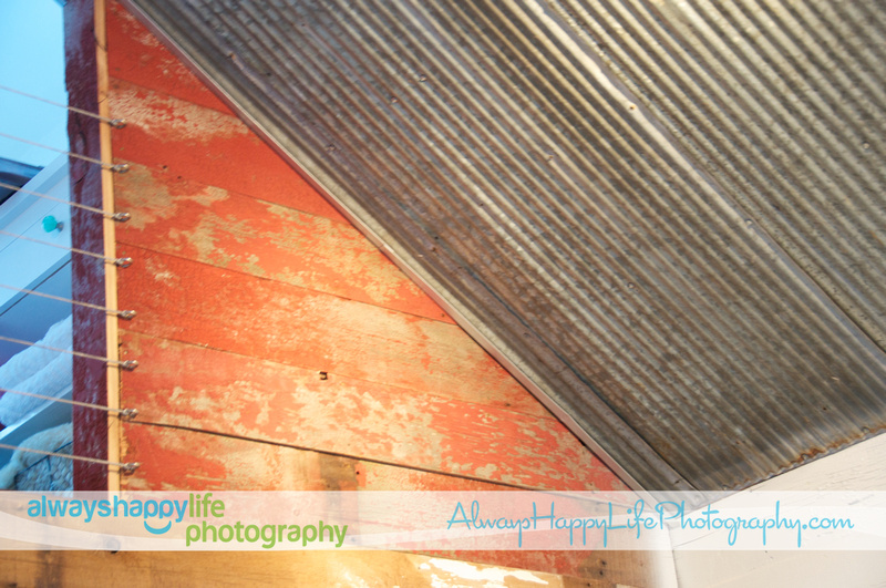 Vintage Metal Ceiling and Old Barn Wood