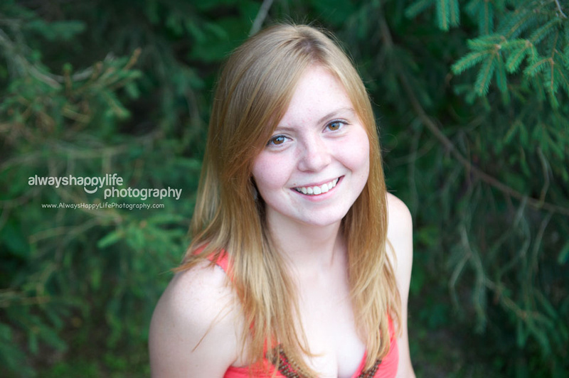 Natural Outdoor Senior Pictures in Indiana