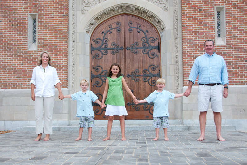 Family Portrait in Front of Culver Academies Chapel