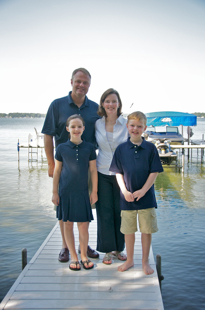 Family Portraits on the Dock Indiana