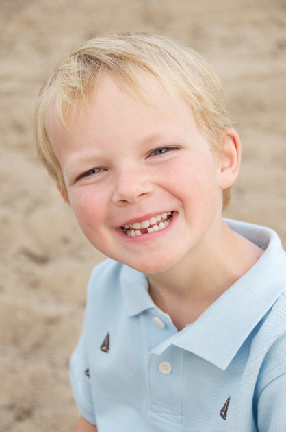 Kids Beach Portrait in Michiana