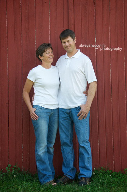 Couple in front of barn portrait | Culver, IN photography studio
