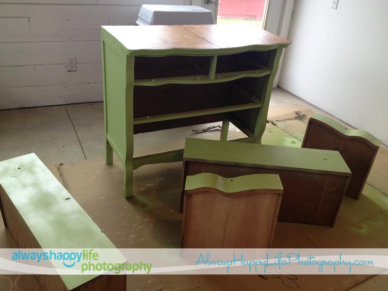 Vintage Shabby Chic Dresser Redo