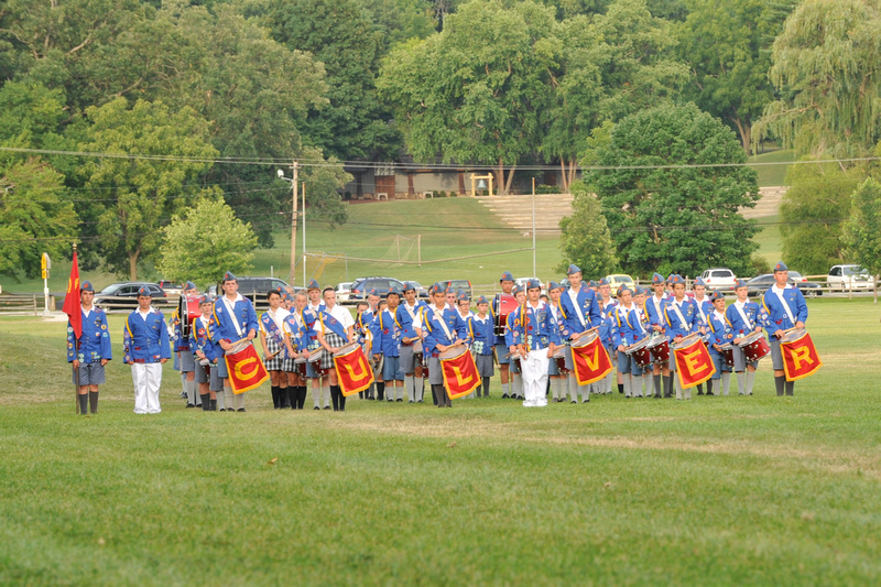 The Culver Woodcraft Drum & Bugle Marches in the Homecoming Parade