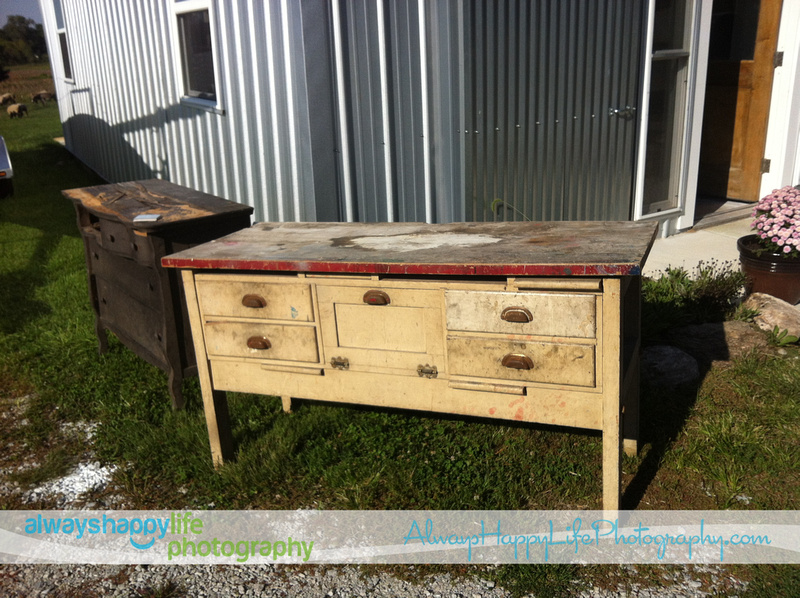 Old Work Bench to be Redone for Kitchen Cabinet