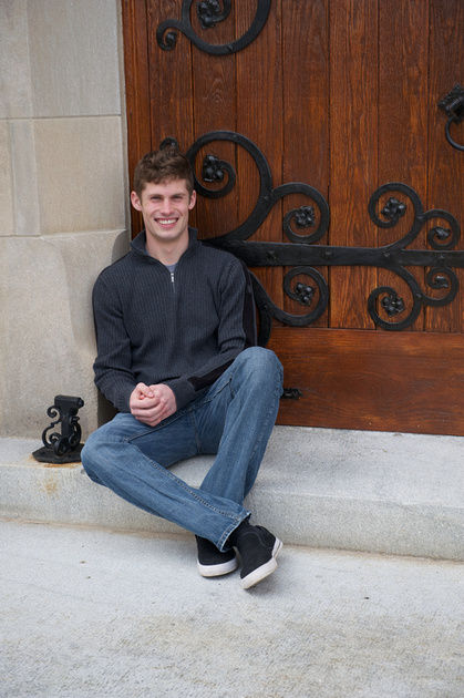 Plymouth Best Senior Portrait Photographer Culver Chapel Doors